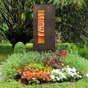 Albona Spiralis Granit Grabstein Glas Ornament Lebensspirale - Kindergrab