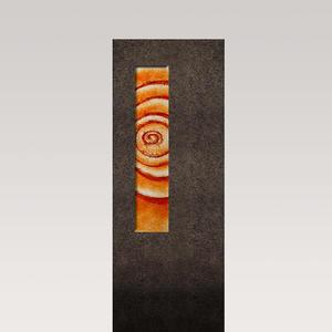 Albona Spiralis Granit Grabstein Glas Ornament Lebensspirale - Urnengrab