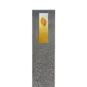 Celenta Cruzis Granit Grabstein Stele Einzelgrab mit Glas Kreuz