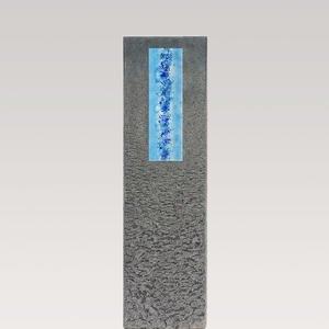 Celenta Aqua Granit Grabstein Stele Einzelgrab mit Glaseinsatz