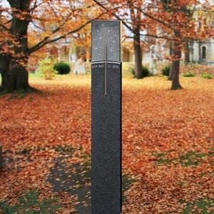 Stella Mira Granit Grabstein Stele Swarovski Gestaltung