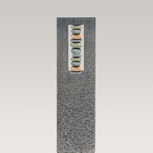 Celenta Pietra Granit Grabstein Stele Urnengrab mit Kieselsteinen