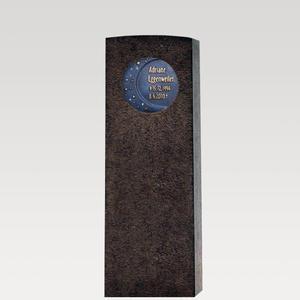 Siera Cadunt Granit Kindergrab Grabstein mit Bronze / Motiv: Mond & Sterne