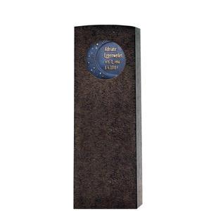 Siera Cadunt Granit Urnengrab Grabstein mit Bronze / Motiv: Mond & Sterne