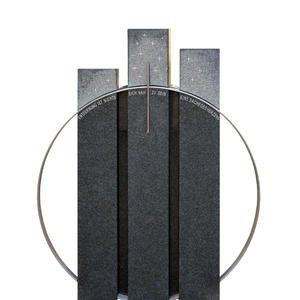 Trias Monumenta Granit Urnengrabstein Dreiteilig Swarovski Design