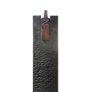 Auxerre Scala Granit Urnengrabstein Stele mit Bronze Symbol Treppe