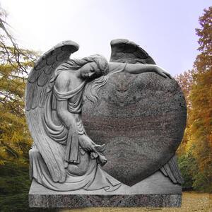 Meriana Engel Grabstein Trauerndes Herz