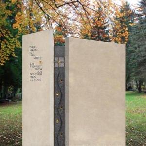 Piceno Grosses Doppelgrabmal Modern Gestaltet vom Bildhauer