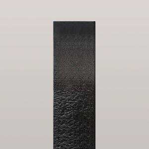 Auxerre Blanco Handwerkliche Granit Doppelgrabstein Stele in Schwarz