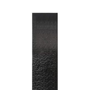 Auxerre Blanco Handwerkliche Granit Einzelgrabstein Stele in Schwarz