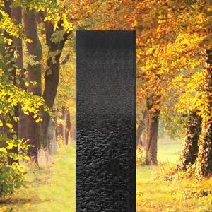 Auxerre Blanco Handwerkliche Granit Urnengrabstein Stele in Schwarz