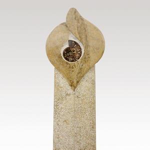 Vincent Individueller Grabstein für Einzelgrab mit Ammonit kaufen