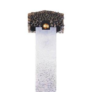 Portici Flora Kalkstein Einzelgrab Grabstein mit Bronze Symbol Kugel & Baum