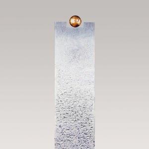 Portici Moderno Kalkstein Einzelgrab Grabstein mit Bronze Symbol Kugel