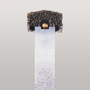 Portici Flora Kalkstein Urnengrab Grabstein mit Bronze Symbol Kugel & Baum