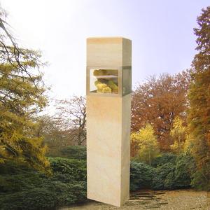 Memorium Grabstein mit Erinnerungskammer