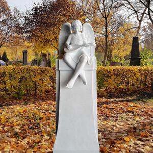 Raphael Kindergrabstein mit Musizierendem Engel