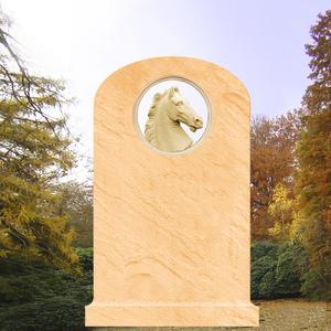 Cavallo Grabstein mit Pferdekopf