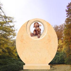 Memo Kindergrabmal mit weinendem Teddy