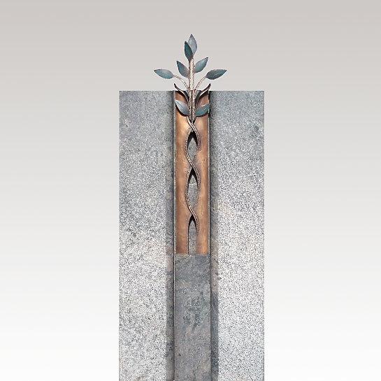 Antiqua – Kleiner Grabstein Granit mit Lebensbaum