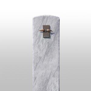 Nobilia Kleines Grabmal aus Marmor mit Bronze Figur