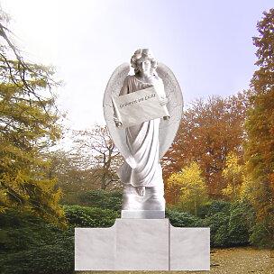 Fortuna Grabengel mit Schriftenrolle