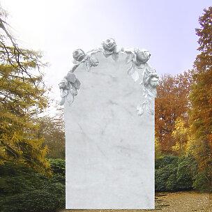 Grandessa Grabstein mit Rosenschmuck