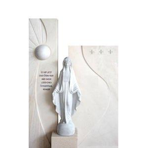 Dorano Marmor Urnengrabstein mit Madonna Figur