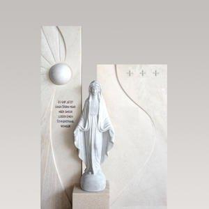 Dorano Marmorgrabstein mit Madonna Statue