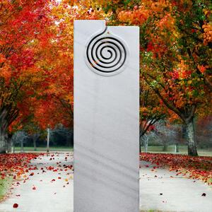 Cambia Marmorgrabstein Weiss Spiral Design