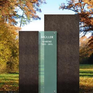 Ecclesia Novus Moderne Zweiteilige Grabmalkomposition - Urnengrab