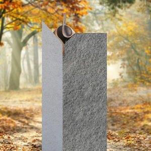 Tizian Moderner Designer Doppelgrab Grabstein mit Bronze Ornament