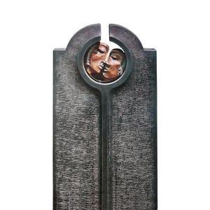 Novara Faccia Moderner Einzelgrab Grabstein mit Bronze Maske & Gesicht