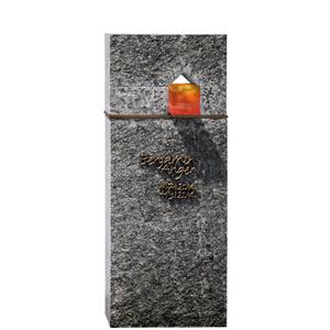 Domus Lumis Moderner Einzelgrab Grabstein mit Granit, Bronze & Glas