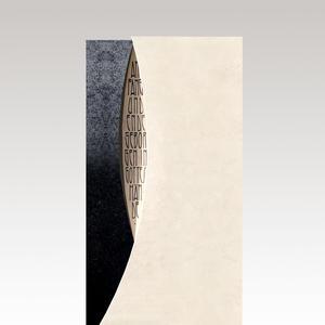 Funera Moderner Grabstein beige & schwarz vom Steinmetz