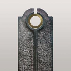 Novara Cherchio Moderner Granit Einzelgrabstein mit Bronze Ring