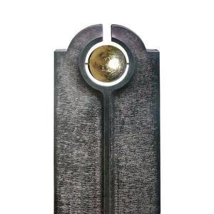 Novara Palla Moderner Granit Einzelgrabstein mit Goldener Kugel