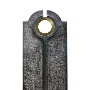 Novara Cherchio Moderner Granit Urnengrabstein mit Bronze Ring