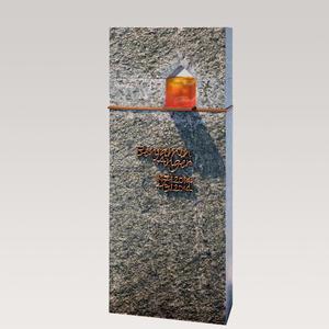 Domus Lumis Moderner Kindergrab Grabstein mit Granit, Bronze & Glas