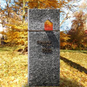 Domus Lumis Moderner Urnengrab Grabstein mit Granit, Bronze & Glas