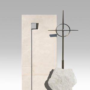 Monasterio Moderner Urnengrabstein Mehrteilig Kugel Und Kreuz