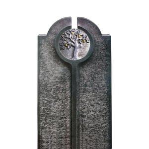 Novara Albero Moderner Urnengrabstein mit Granit Lebensabum Relief Rund