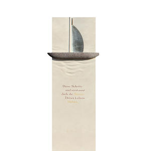 Briona Modernes Doppelgrabmal Boot Symbol
