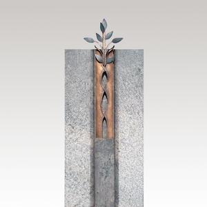 Antiqua Modernes Doppelgrabmal mit Bronze Blättern
