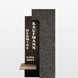 Memento Modernes Grabstein-Design in Granit & Metall für ein Doppelgrab