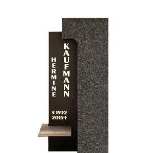 Memento Modernes Grabstein-Design in Granit & Metall für ein Einzelgrab