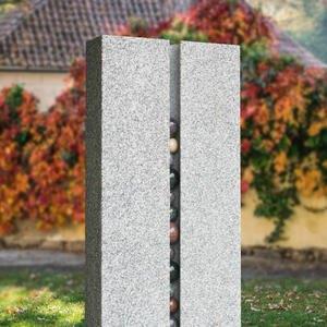 Sentenza Modernes Granit Doppelgrabmal Hell Gestaltet