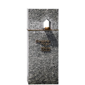 Domus Sacra Modernes Urnengrabmal mit Granit & Bronze
