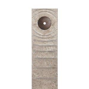 Levanto Momento Muschelkalk Einzelgrabstein mit Bronze Element Scheibe