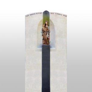 Madre Divina Naturstein Grabstein Mutter Gottes Statue